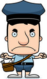 Cartoon Angry Mail Carrier Man Stock Photos