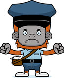 Cartoon Angry Mail Carrier Orangutan Royalty Free Stock Image