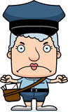 Cartoon Angry Mail Carrier Woman Stock Images