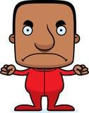 Cartoon Angry Man In Pajamas Stock Image
