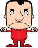 Cartoon Angry Man In Pajamas Royalty Free Stock Photos