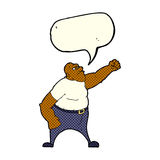 Cartoon angry man with speech bubble Royalty Free Stock Photo
