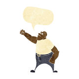Cartoon angry man with speech bubble Royalty Free Stock Images