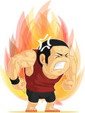 Cartoon of Angry Man. A vector image of a man blazing with anger. Drawn in cartoon style, this vector is very good for design that need angry concept in funny Royalty Free Stock Image