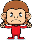 Cartoon Angry Monkey In Pajamas Royalty Free Stock Photos