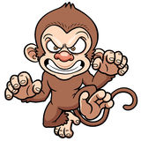 Cartoon Angry monkey Stock Image