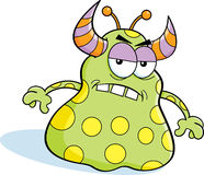 Cartoon angry monster Royalty Free Stock Image