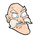 Cartoon angry old man Stock Photo