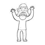 Cartoon angry old man Stock Photos