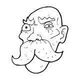 Cartoon angry old man Royalty Free Stock Image