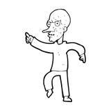 Cartoon angry old man Stock Photo