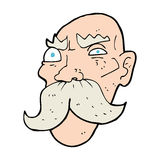 cartoon angry old man Royalty Free Stock Image