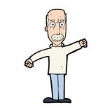 Cartoon angry old man Royalty Free Stock Images