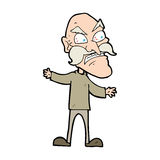 Cartoon angry old man Royalty Free Stock Photography