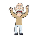 cartoon angry old man Stock Photography