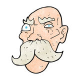 Cartoon angry old man Stock Images