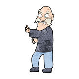 Cartoon angry old man Royalty Free Stock Photos
