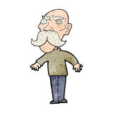 Cartoon angry old man Stock Photos