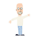 Cartoon angry old man Stock Image