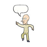 Cartoon angry old man with speech bubble Royalty Free Stock Photo
