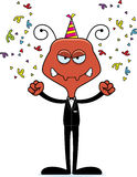 Cartoon Angry Party Ant Stock Images