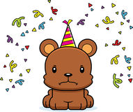 Cartoon Angry Party Bear Stock Images