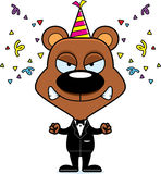 Cartoon Angry Party Bear Royalty Free Stock Photos