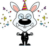 Cartoon Angry Party Bunny Royalty Free Stock Photography