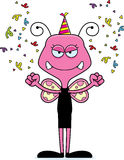 Cartoon Angry Party Butterfly Royalty Free Stock Photos