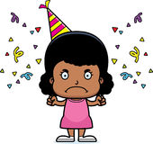 Cartoon Angry Party Girl Stock Photography