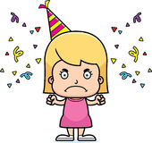 Cartoon Angry Party Girl Stock Photo