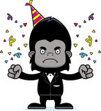 Cartoon Angry Party Gorilla Stock Image