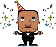Cartoon Angry Party Man Royalty Free Stock Image