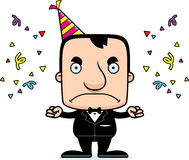 Cartoon Angry Party Man Stock Photography