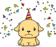 Cartoon Angry Party Puppy Royalty Free Stock Image