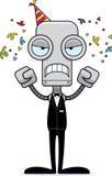 Cartoon Angry Party Robot Stock Photos