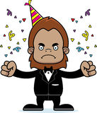 Cartoon Angry Party Sasquatch Stock Image