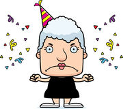 Cartoon Angry Party Woman Royalty Free Stock Images