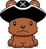Cartoon Angry Pirate Bear Stock Image