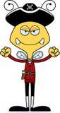 Cartoon Angry Pirate Bee Stock Photo