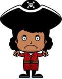 Cartoon Angry Pirate Girl Royalty Free Stock Photos