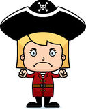 Cartoon Angry Pirate Girl Royalty Free Stock Images