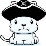 Cartoon Angry Pirate Kitten Royalty Free Stock Photography