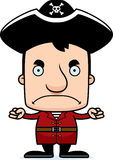 Cartoon Angry Pirate Man Royalty Free Stock Image