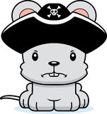 Cartoon Angry Pirate Mouse Royalty Free Stock Photos