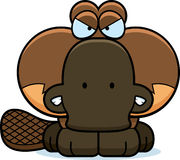 Cartoon Angry Platypus Stock Images