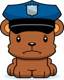 Cartoon Angry Police Officer Bear Royalty Free Stock Images