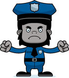 Cartoon Angry Police Officer Gorilla Stock Photo
