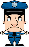 Cartoon Angry Police Officer Man Royalty Free Stock Photography