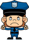 Cartoon Angry Police Officer Monkey Royalty Free Stock Image